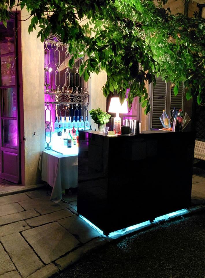Postazione Open Bar nera - Villa Sommi Picenardi - Olgiate Molgora