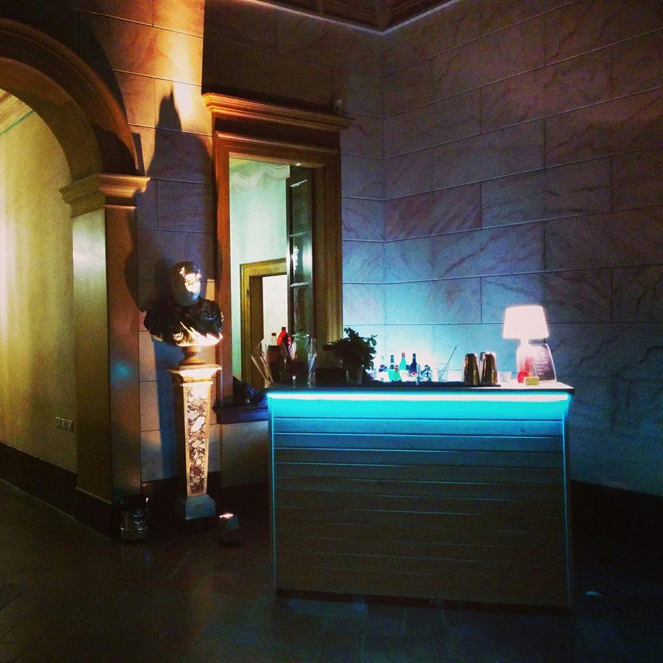 Postazione open bar legno bianco - Villa Zanchi - Stezzano