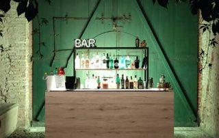 Postazione bar legno chiaro, Convento dell'annunciata Medole Tuxedo Bar Catering , cocktail per i tuoi eventi open bar Bergamo